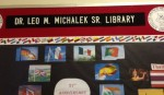 Dr. Leo Michalek Library sign