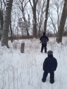 Snowshoeing at Tifft Nature Preserve.