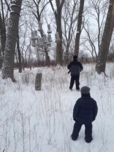 Snowshoeing at Tifft Nature Preserve.