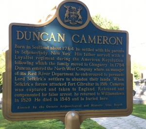 Loyalist History Duncan Cameron